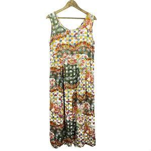 Jams World Floral Sleeveless Coastal Midi Dress